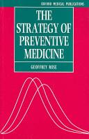 Strategy of Preventive Medicine