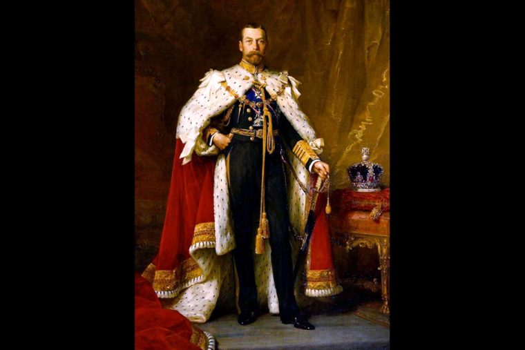 George V, killed at the end of his life by a lethal dose of cocaine and morphine.  Portrait by Filkes, via Wikipedia (Public Domain)